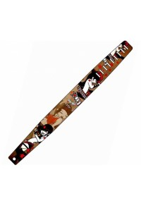 PERRI'S LEATHERS P35TJ-636 THE TATTOO JOHNNY TRACOLLA - GUITAR STRAP