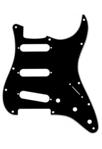 FENDER 0991359000 - 11-HOLE MODERN-STYLE STRATOCASTER® S/S/S PICKGUARDS BLACK