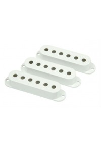FENDER STRAT PICKUP COVER SET WHITE