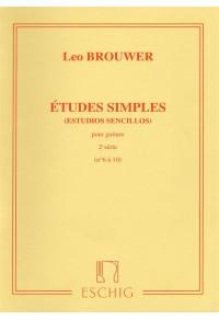 BROUWER ETUDES SIMPLES PUOR GUITARE 2 SERIE