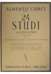 CURCI 24 STUDI PER VIOLINO Op 23