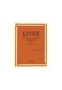 KAYSER 36 STUDI ELEMENTARI E PROGRESSIVI Op 20 FASCICOLO 1