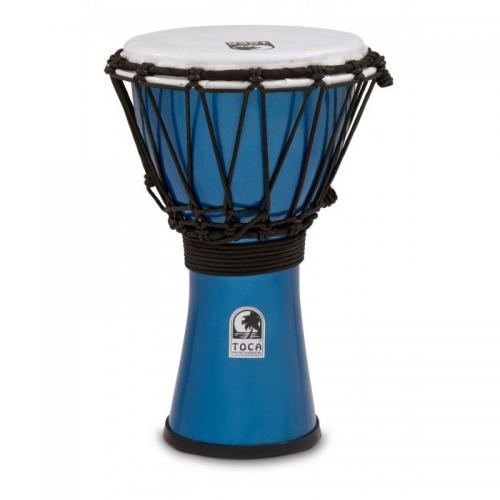 "TOCA DJEMBE 7"" FREESTYLE METALLIC BLUE"